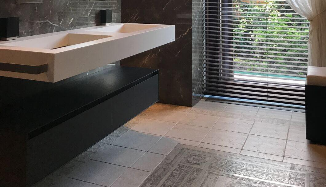 Quality Luxury Bathroom Renovations Flooring in Sydney. One method is under floor heating