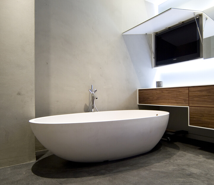 Modern Bathroom TV Quality Bathroom renos Sydney