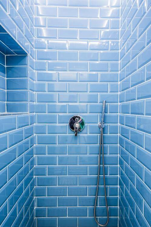 Disabled Shower with built-in shelf