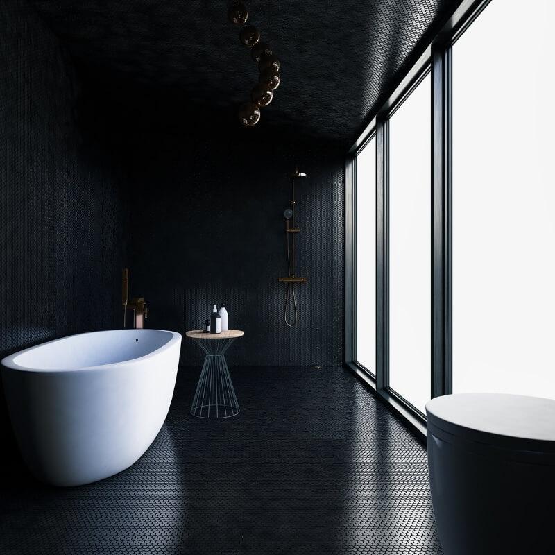 bathroom renovation black luxury