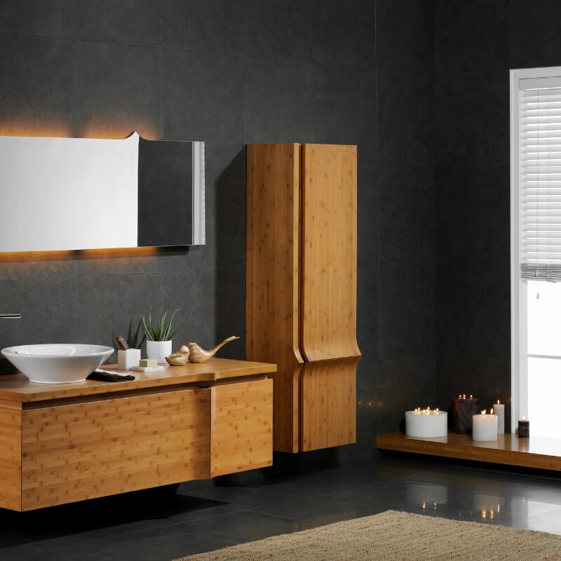 timber addition in luxury bathroom