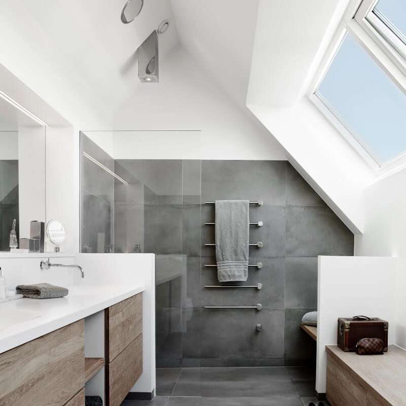 add skylight in small bathroom