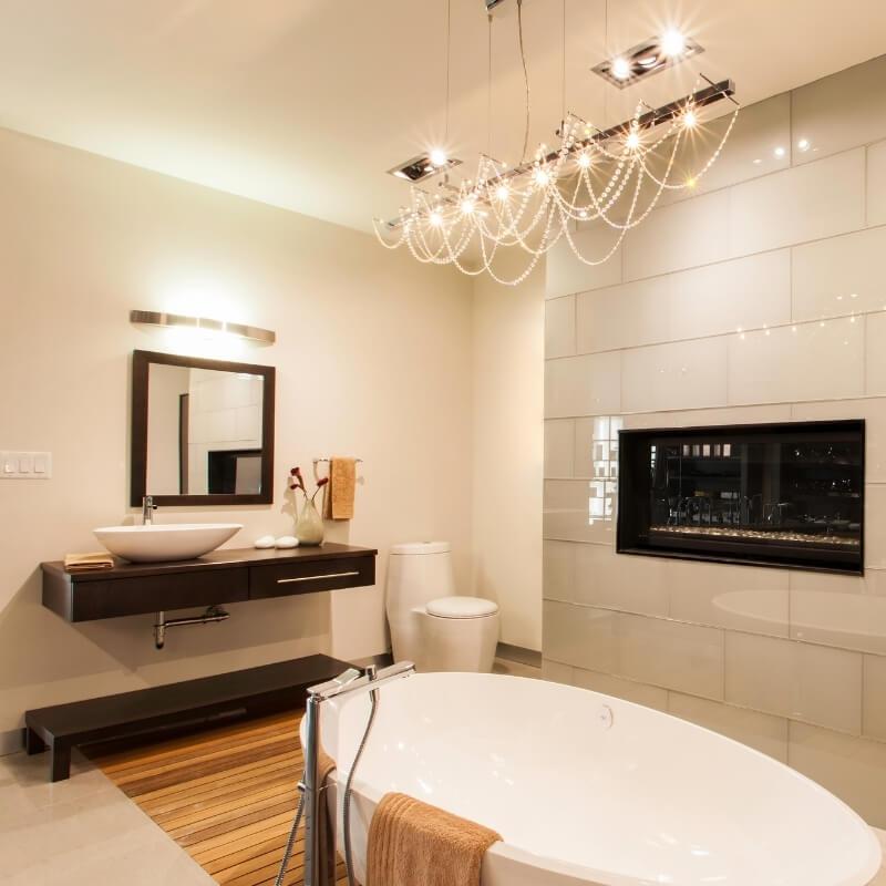 bathroom chandelier bathroom lighting design ideas