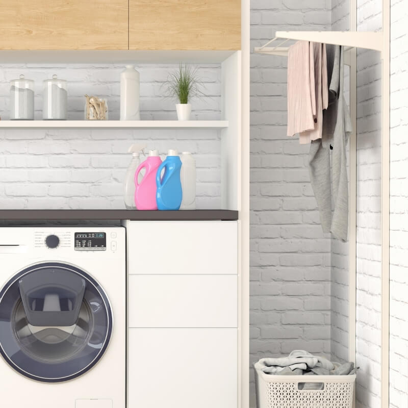 laundry design ideas clothes airer in laundry
