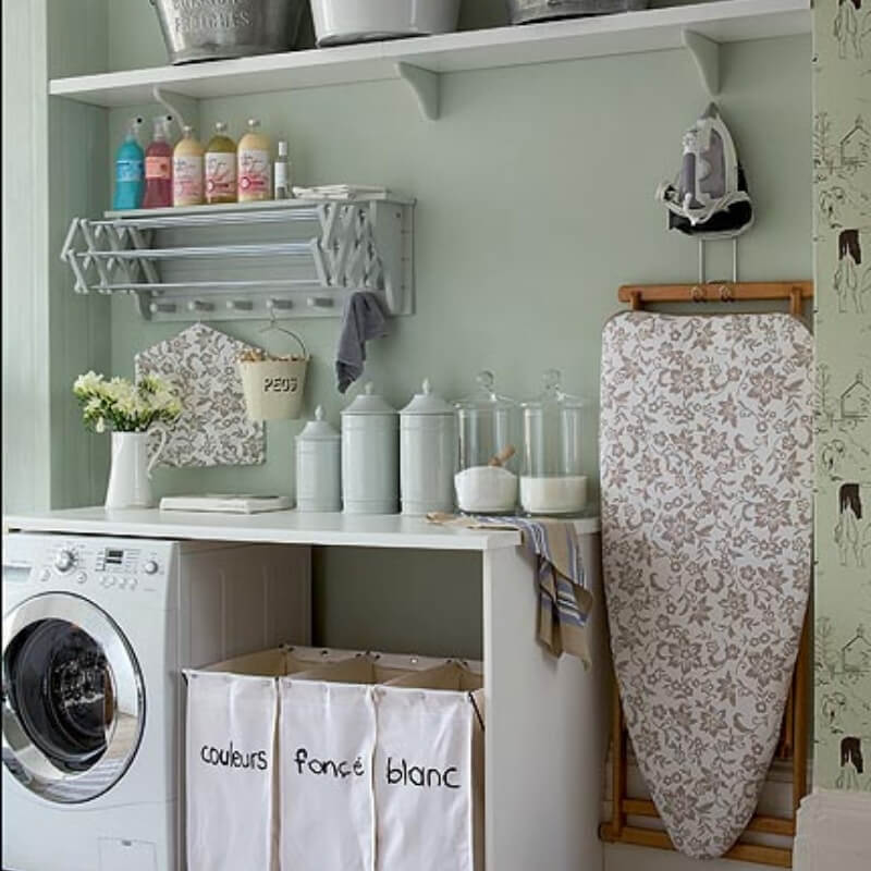 laundry design ideas compact storage in laundry