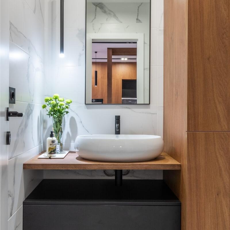 contemporary design half bathroom designs