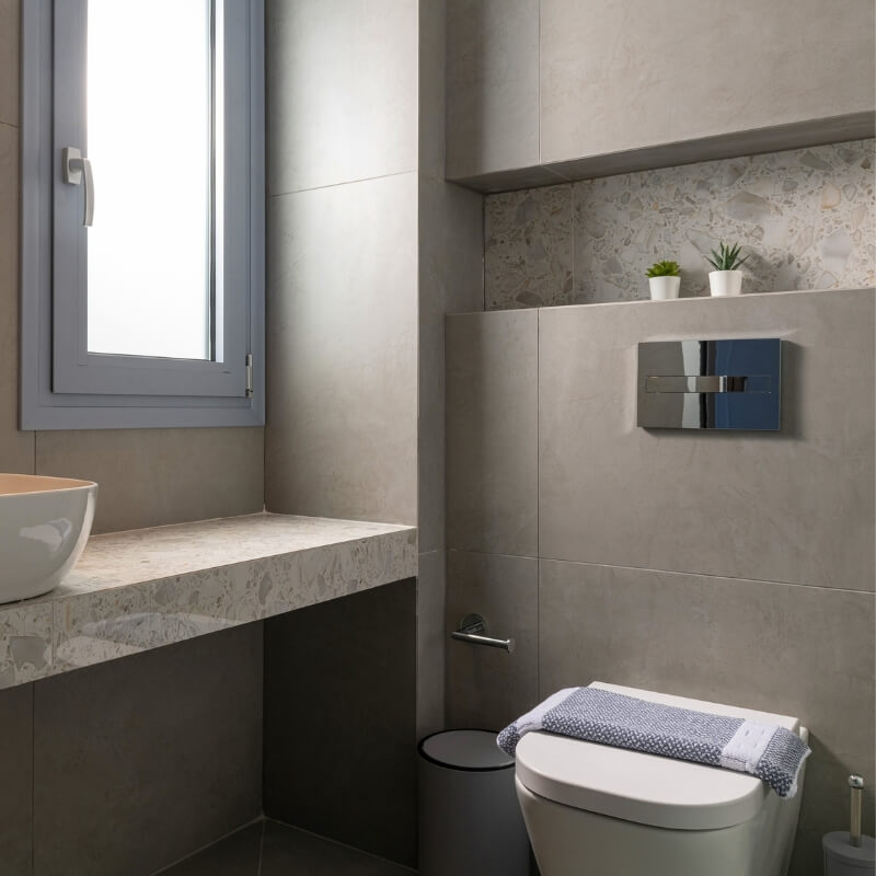 floating toilet hidden cistern renovating bathroom