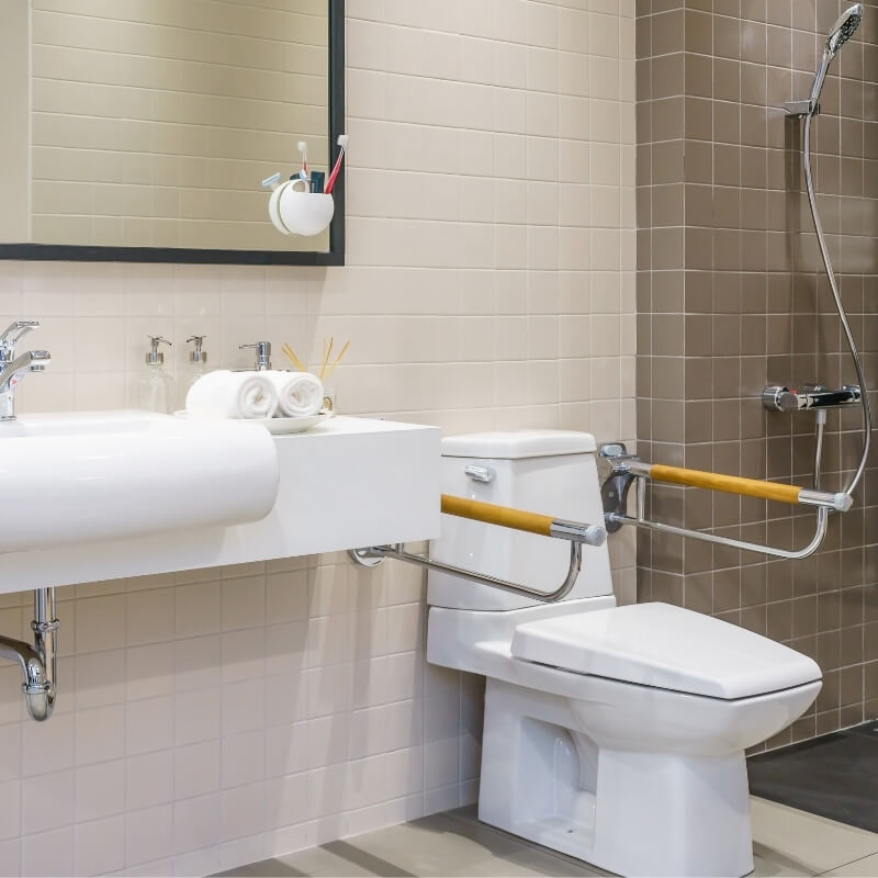 toilet support rail bathroom safety for disabled and elderly bathroom renovations for seniors