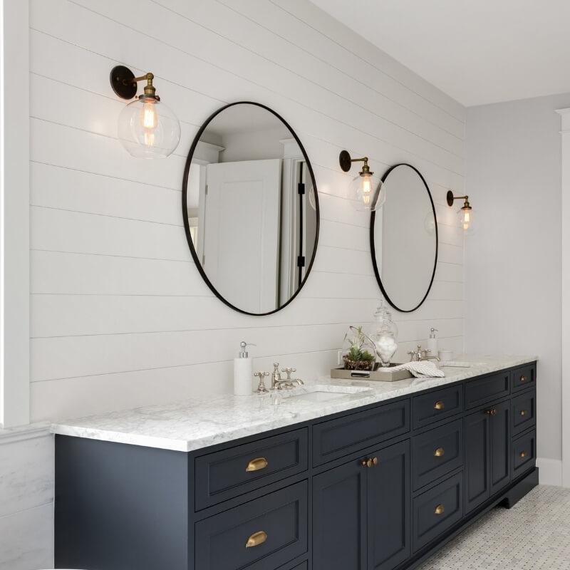 wall sconces in bathroom lighting design ideas