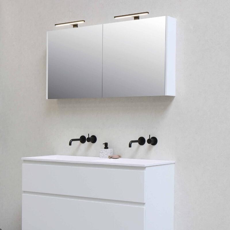 bathroom storage ideas - cabinet vanity mirror