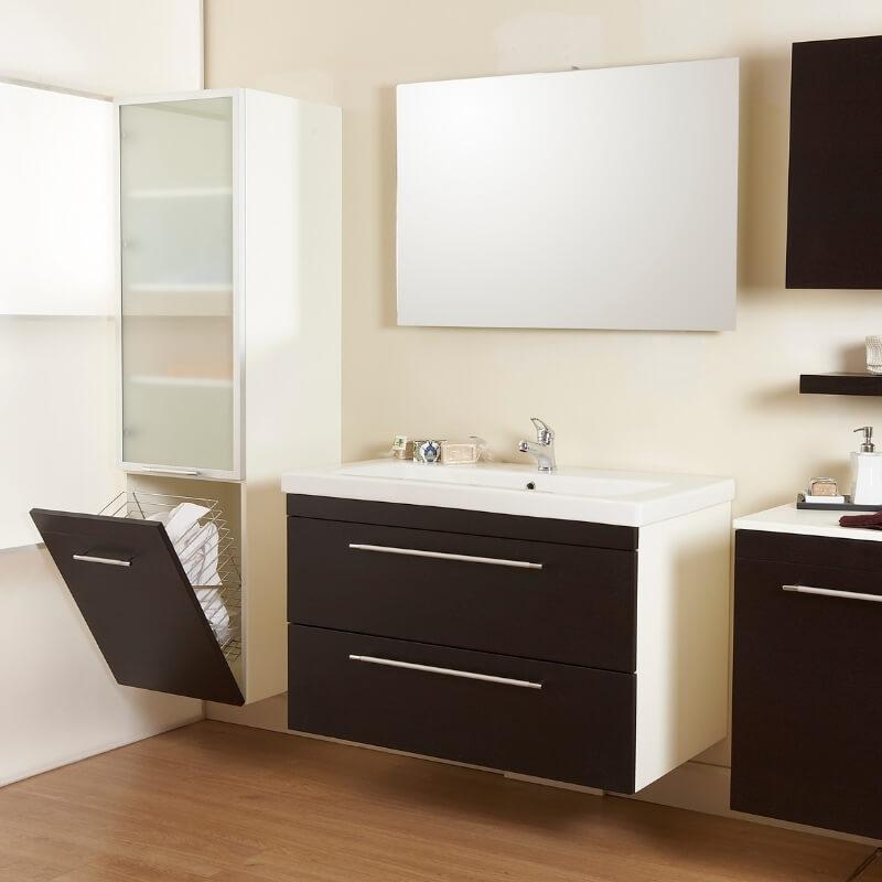 bathroom storage ideas - concealed hamper