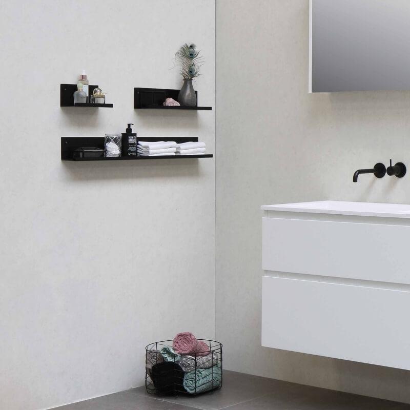 bathroom storage ideas - floating shelves
