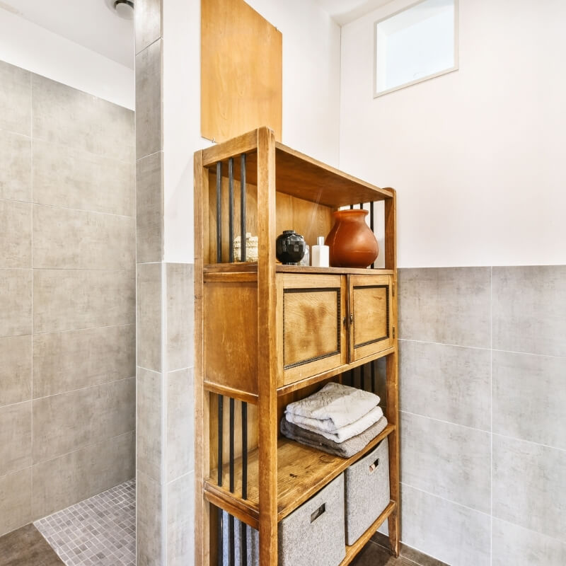 bathroom storage ideas - freestanding cabinet