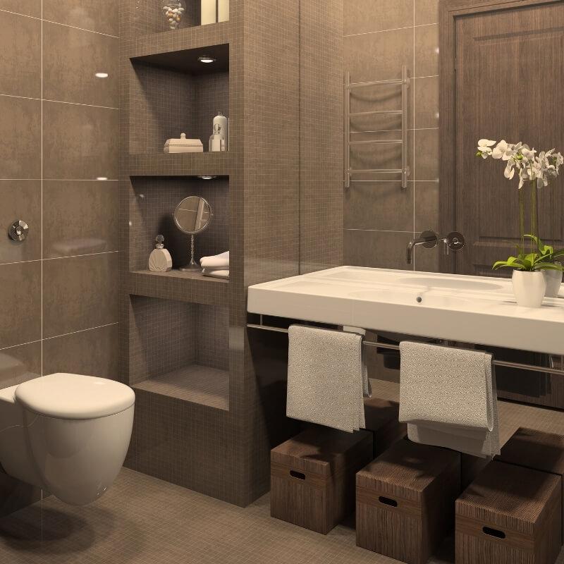 bathroom storage ideas - niche